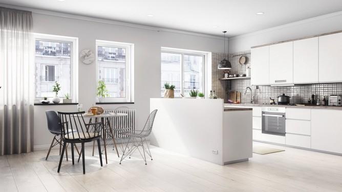 thiết kế nội thất phòng ăn hiện đại, sang trọng theo phong cách bắc âu