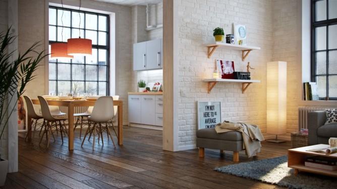 thiết kế nội thất phòng ăn hiện đại, sang trọng theo phong cách châu âu