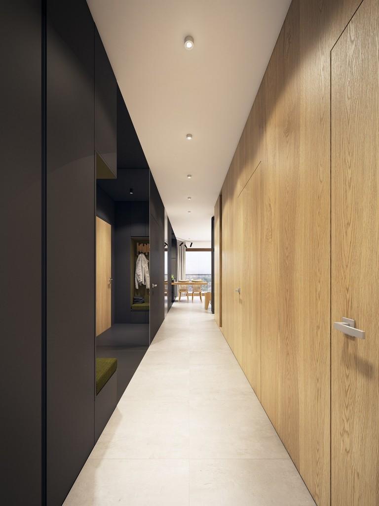 nội thất căn hộ hiện đại, tươi trẻ với điểm màu xanh ngọc lam