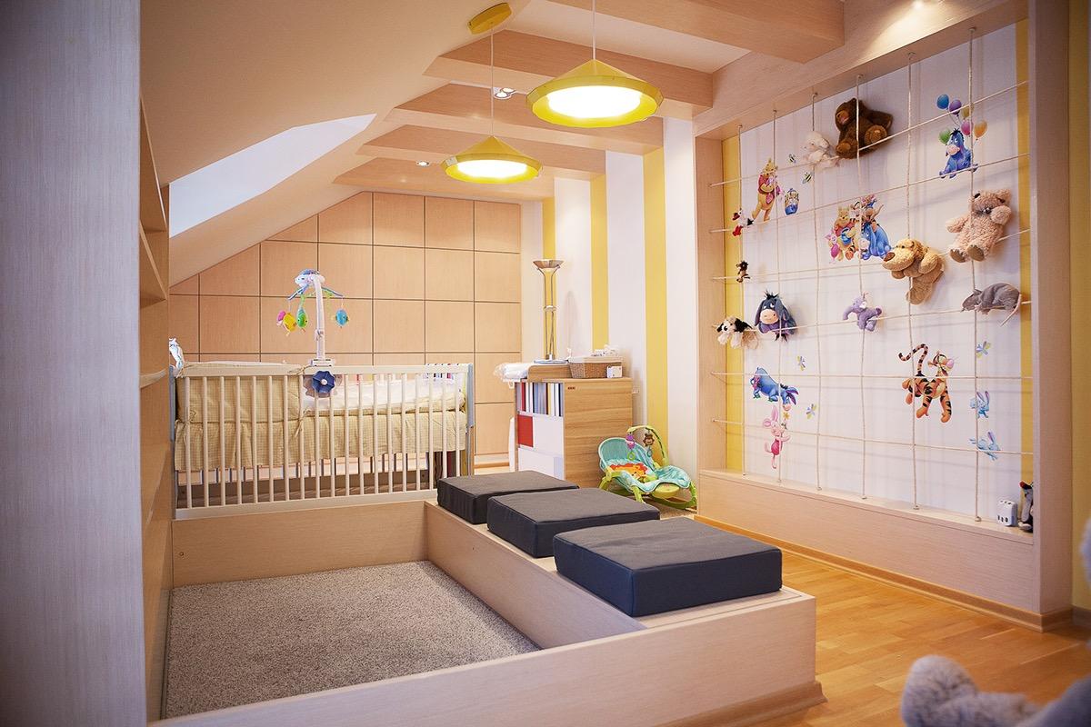 ý tưởng trang trí mảng tường đẹp và thông minh cho phòng trẻ em