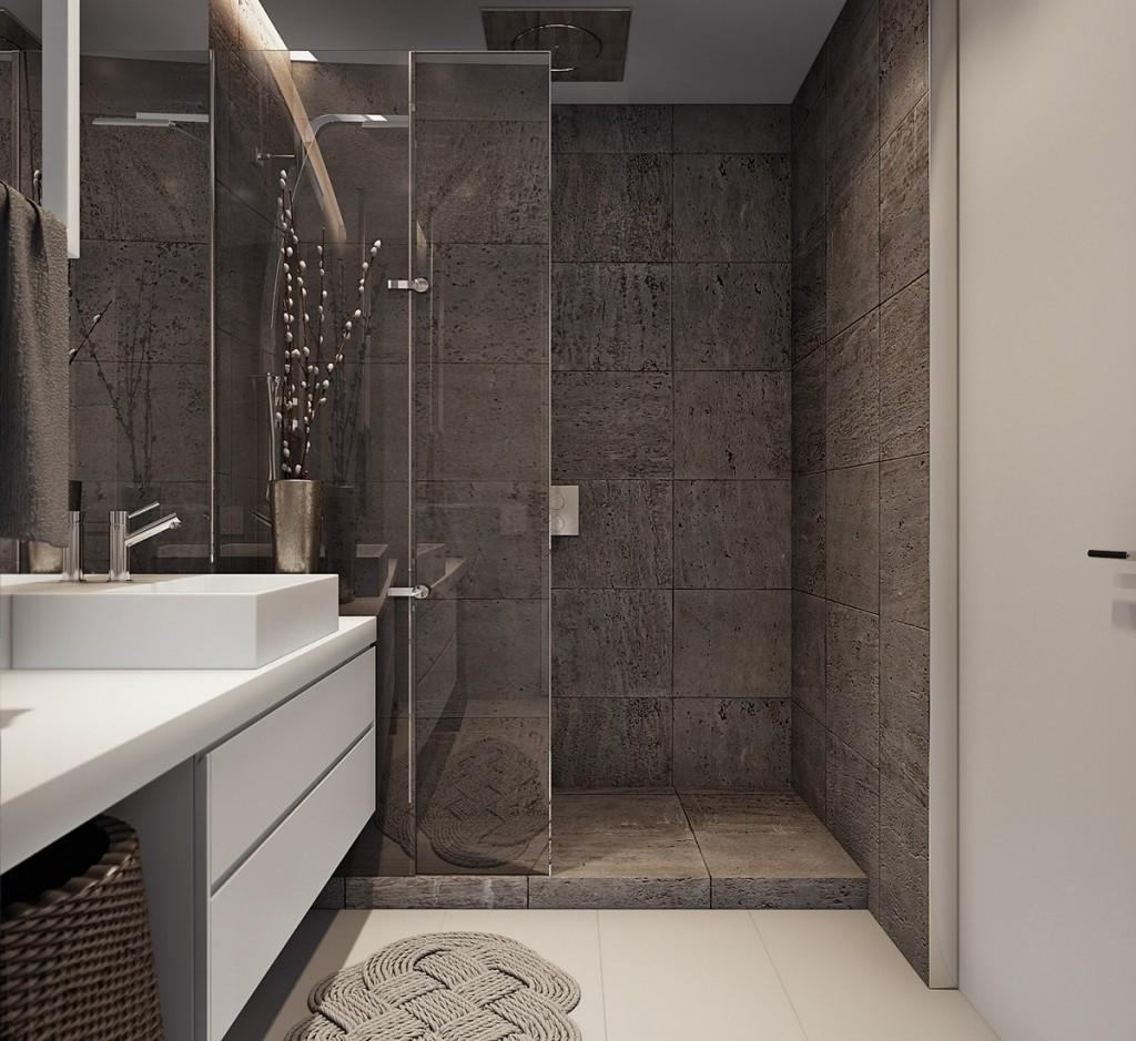 mẫu nội thất phòng tắm nhà đẹp và tiện nghi cho gia đình có 2 con