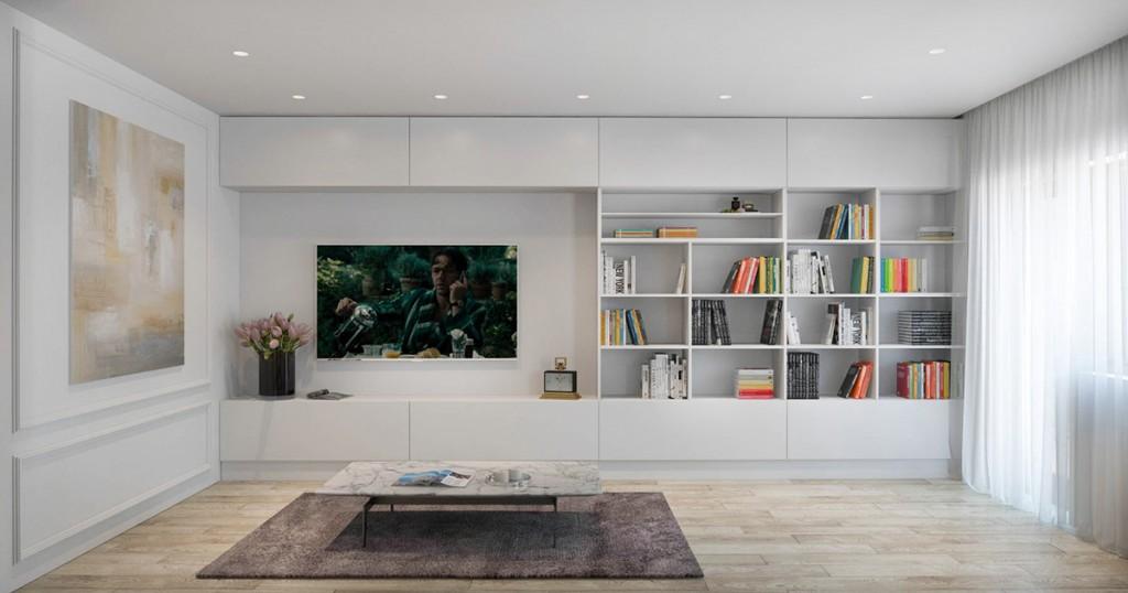 mẫu thiết kế nội thất nhà đẹp và tiện nghi cho gia đình có 2 con