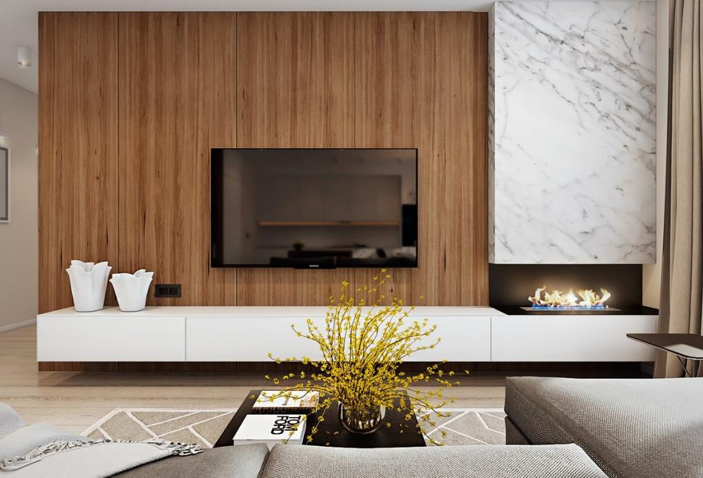 mẫu thiết kế nội thất phòng khách nhà đẹp và tiện nghi cho gia đình có 2 con