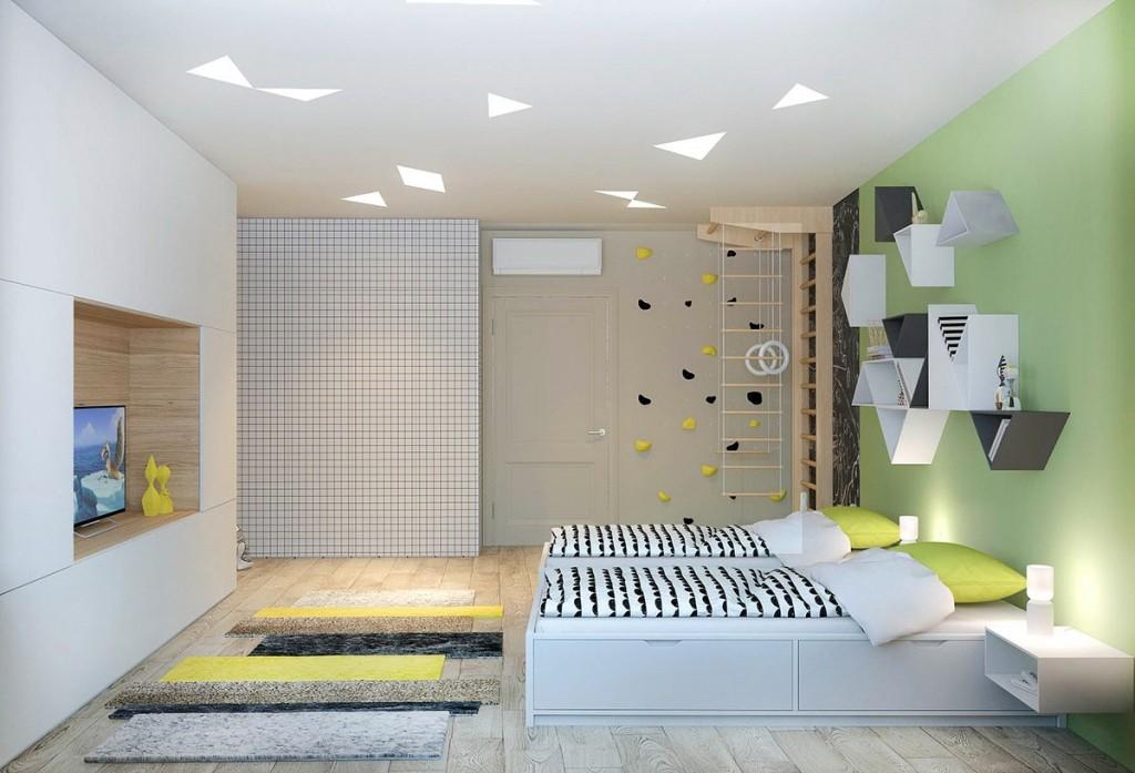 nội thất phòng ngủ trẻ em đẹp và tiện nghi cho gia đình có 2 con