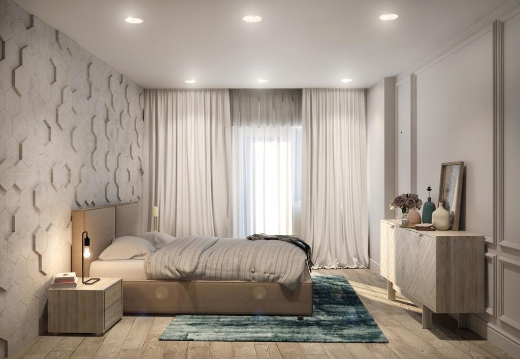 thiết kế nội thất phòng ngủ nhà đẹp và tiện nghi cho gia đình có 2 con