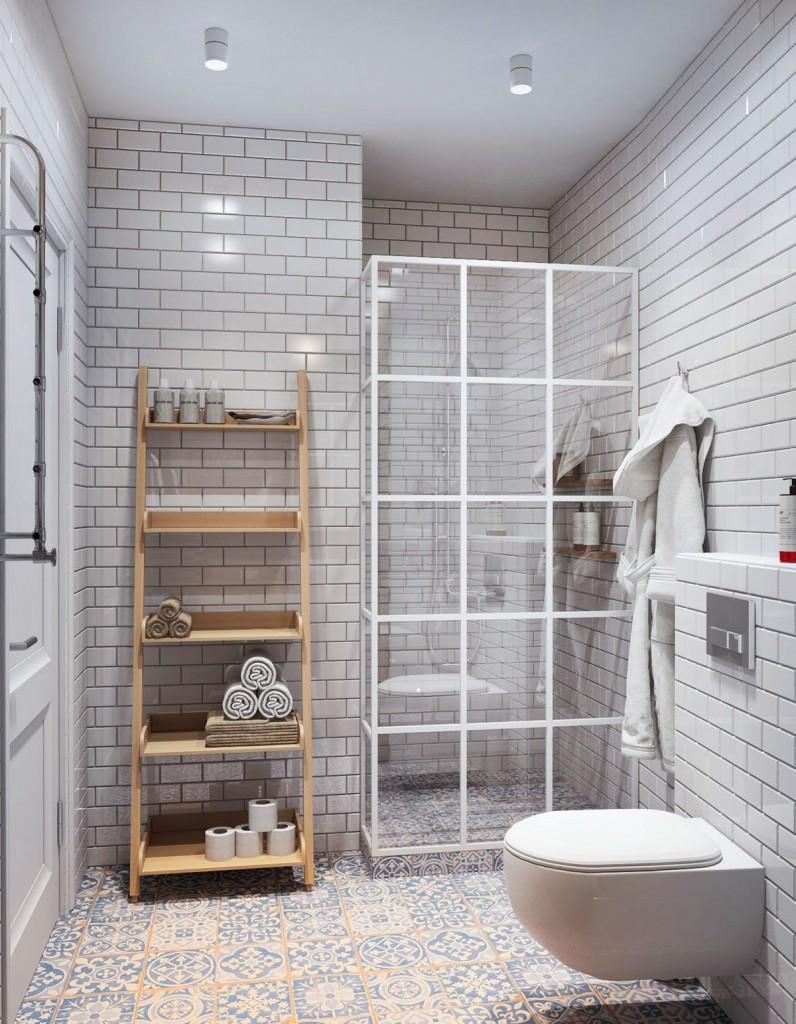 thiết kế nội thất phòng tắm nhà đẹp và tiện nghi cho gia đình có 2 con
