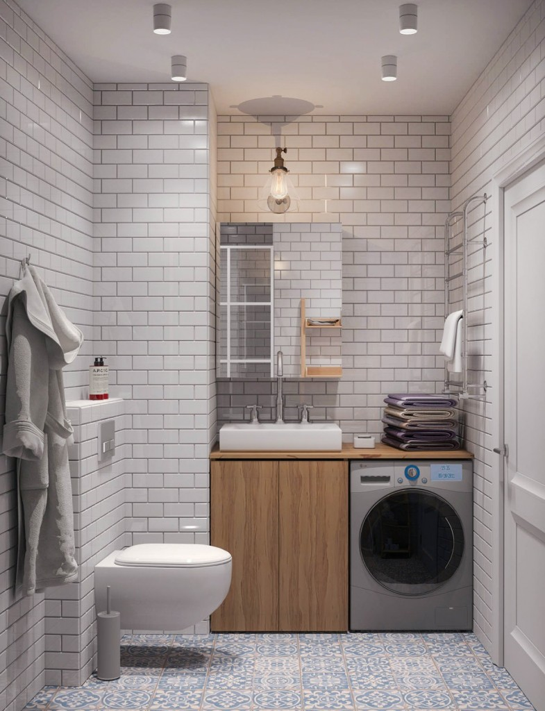 mẫu thiết kế nội thất phòng tắm nhà đẹp và tiện nghi cho gia đình có 2 con