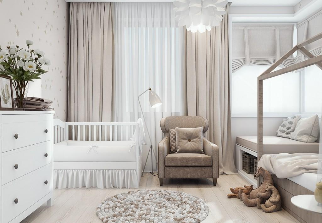 mẫu thiết kế nọi thất nhà đẹp và tiện nghi cho gia đình có 2 con