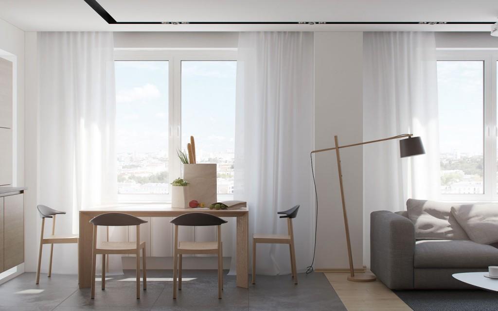 nội thất phòng ăn đẹp cho căn hộ 1 phòng ngủ