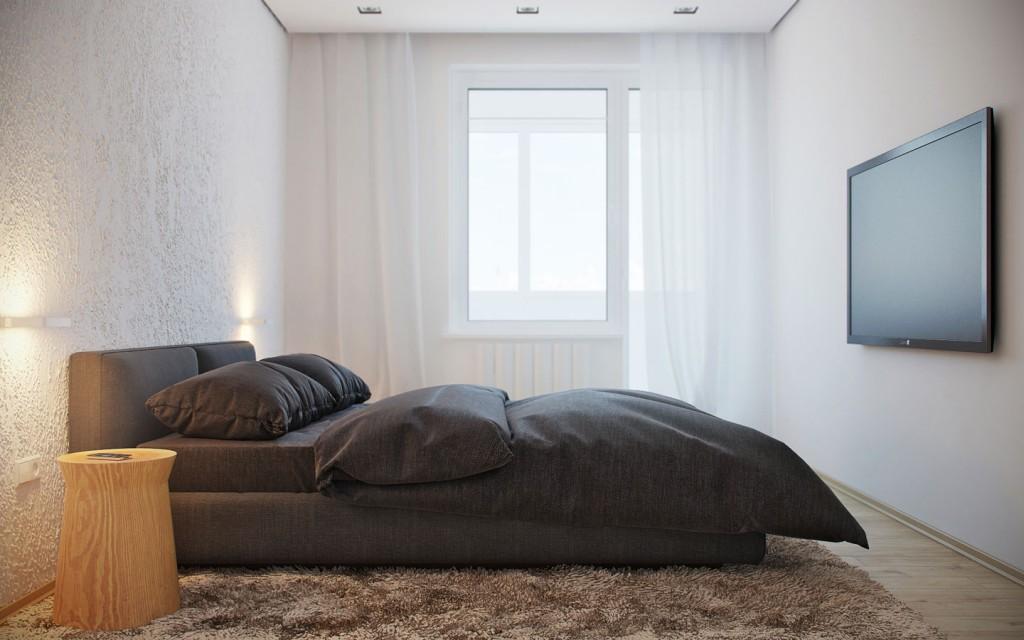 mẫu thiết kế nội thất phòng ngủ đẹp cho căn hộ 1 phòng ngủ