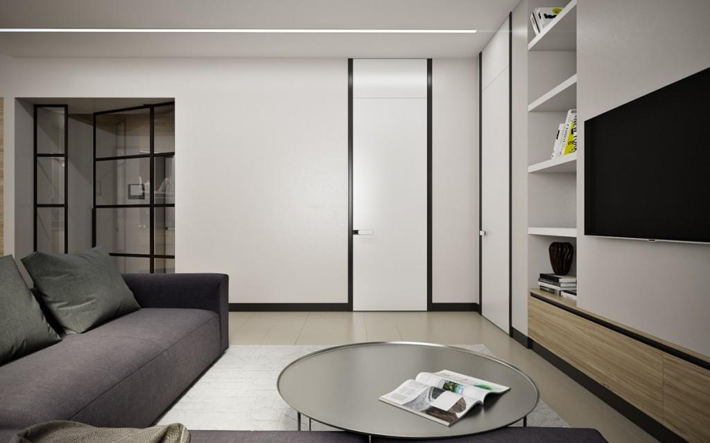 thiết kế nội thất đẹp cho căn hộ 1 phòng ngủ đẹp