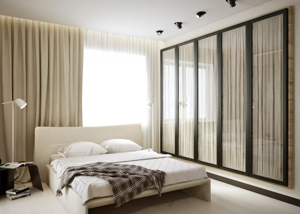 ý tưởng thiết kế nội thất phòng ngủ căn hộ 1 phòng ngủ đẹp