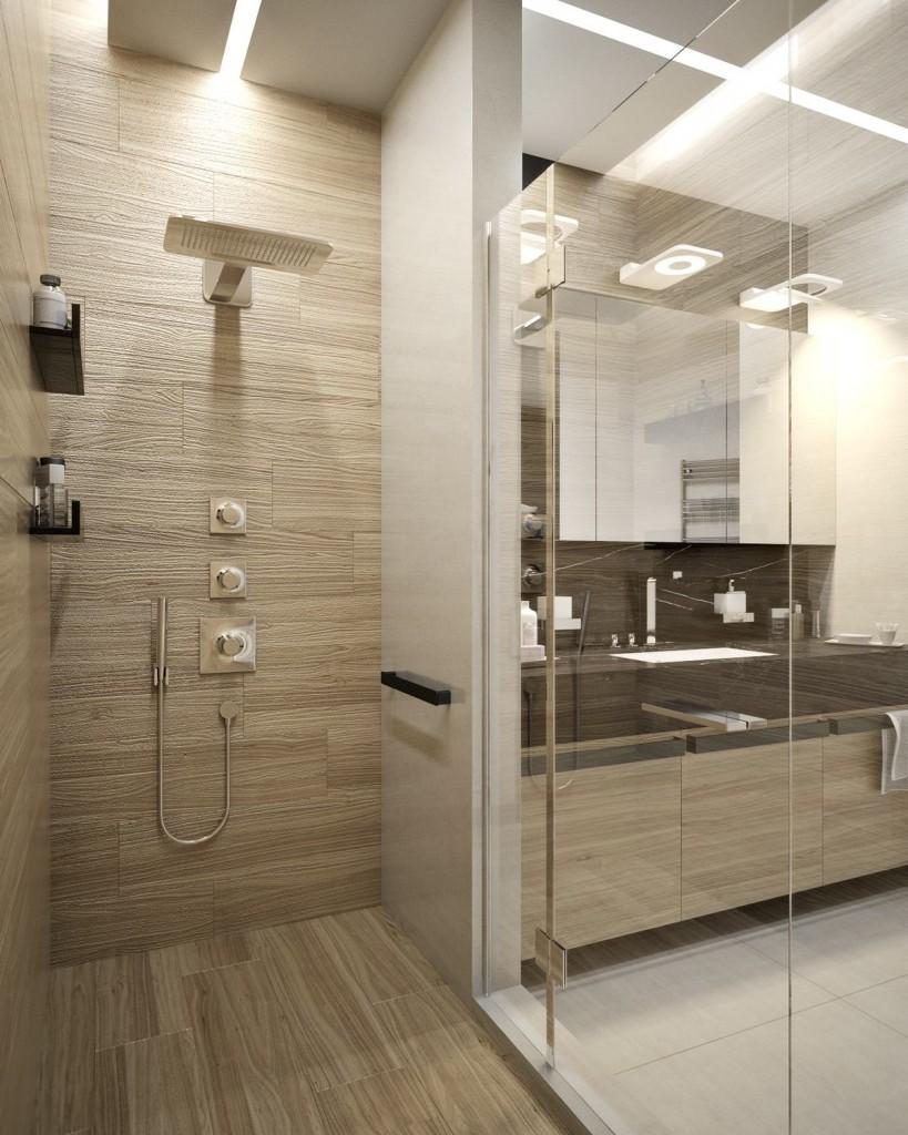 mẫu thiết kế nội thất phòng tắm đẹp cho căn hộ 1 phòng ngủ