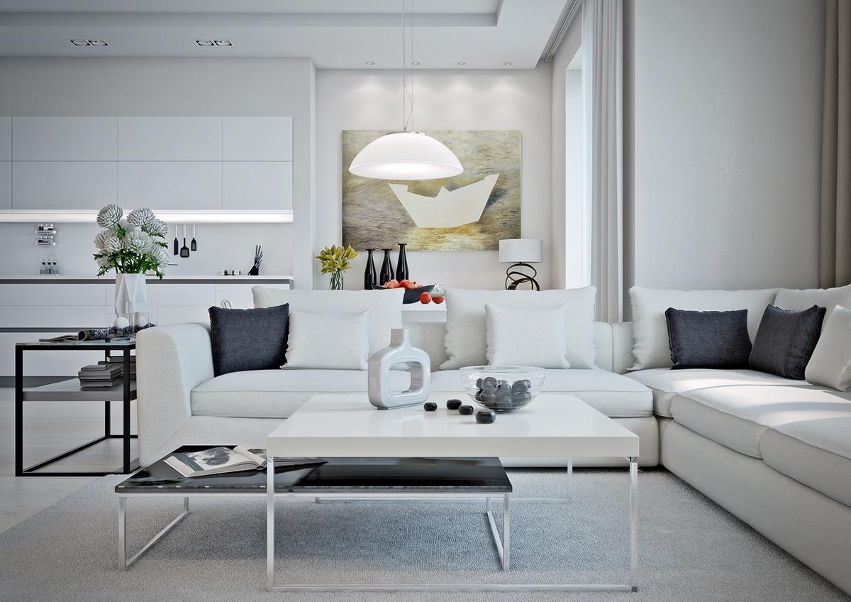 mẫu nội thất phòng khách đẹp cho căn hộ 1 phòng ngủ