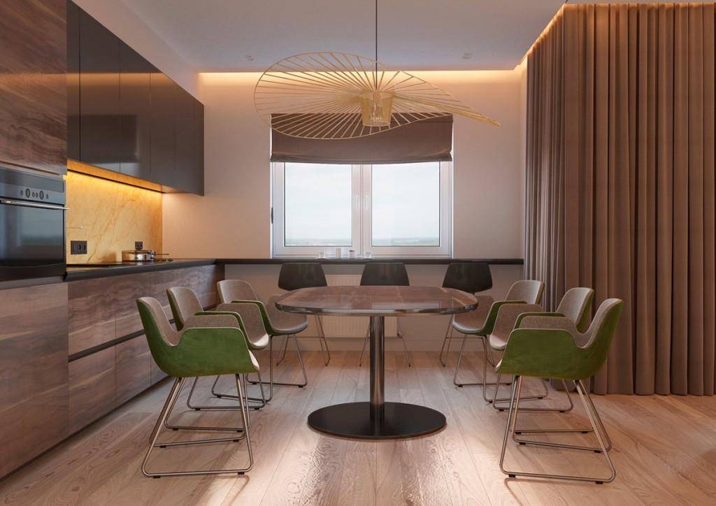 mẫu thiết kế nội thất đẹp và tiện nghi cho căn hộ 1 phòng ngủ