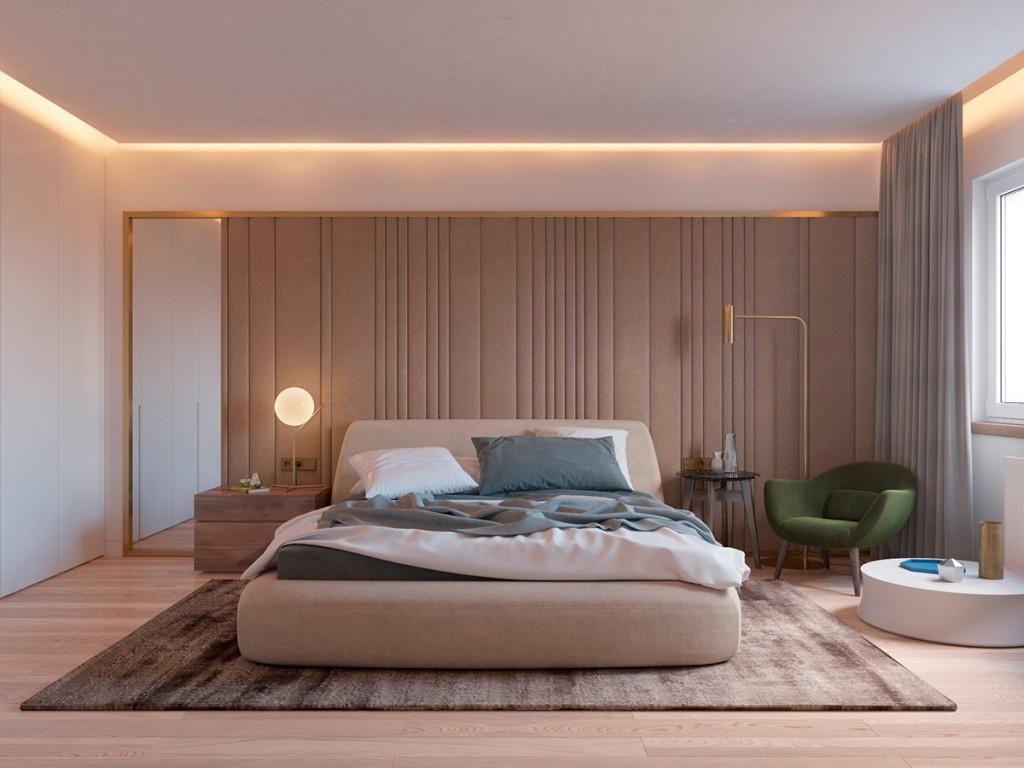 mẫu nội thất phòng ngủ đẹp và tiện nghi cho căn hộ 1 phòng ngủ