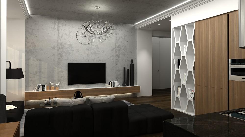 tư vấn thiết kế nội thất đẹp lung linh cho căn hộ 1 phòng ngủ