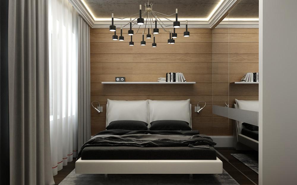 mẫu thiết kế nội thất phòng ngủ đẹp lung linh cho căn hộ 1 phòng ngủ