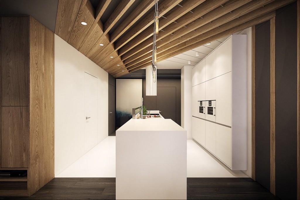 thiết kế nội thất tương phản, hiện đại, sáng tạo và mạnh mẽ