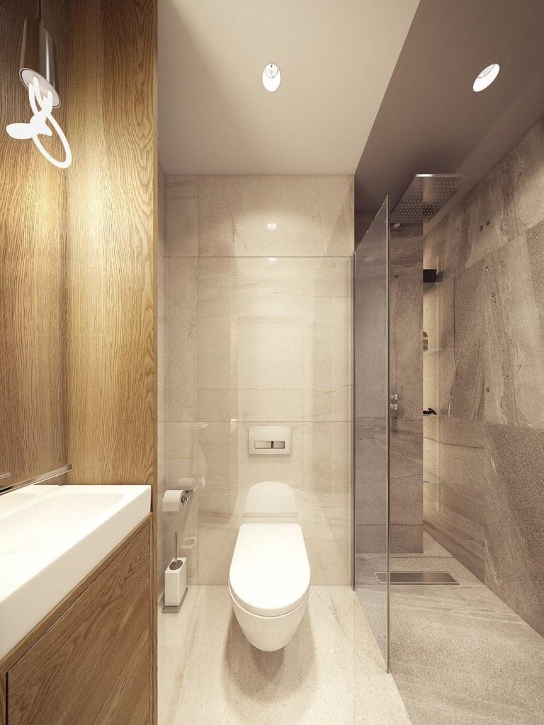 mẫu thiết kế nội thất phòng tắm tương phản, hiện đại, sáng tạo và mạnh mẽ