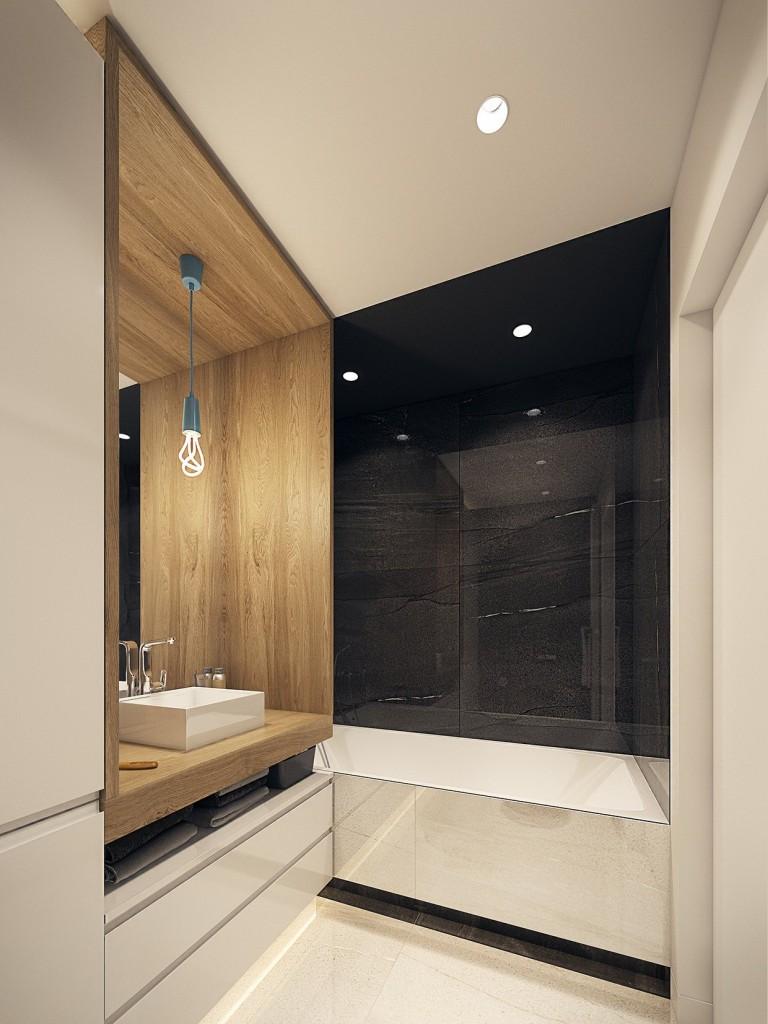 tư vấn thiết kế nội thất phòng tắm tương phản, hiện đại, sáng tạo và mạnh mẽ