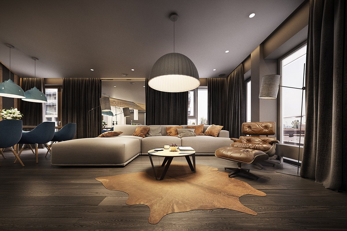 mẫu thiết kế nội thất phòng khách thanh lịch, trang nhã cho nhà đẹp