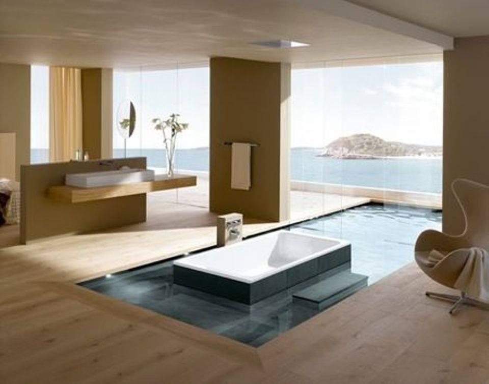 những mẫu thiết kế bồn tắm, phòng tắm đa phong cách cho nhà đẹp
