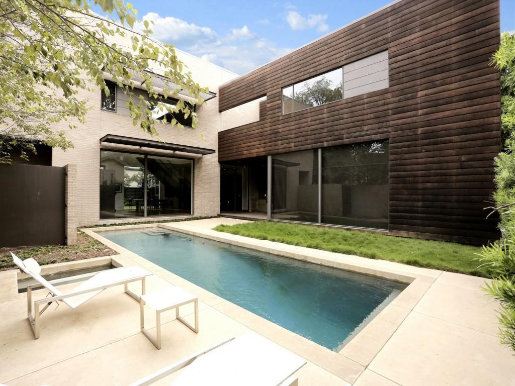 mẫu thiết kế ngoại thất, tiểu cảnh, sân vườn, bể bơi hiện đai, đơn giản và tiện nghi