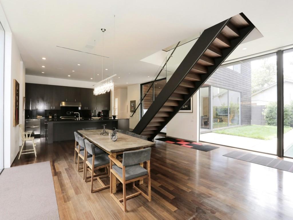 mẫu thiết kế cầu thang, nội thất nhà hiện đai, đơn giản và tiện nghi