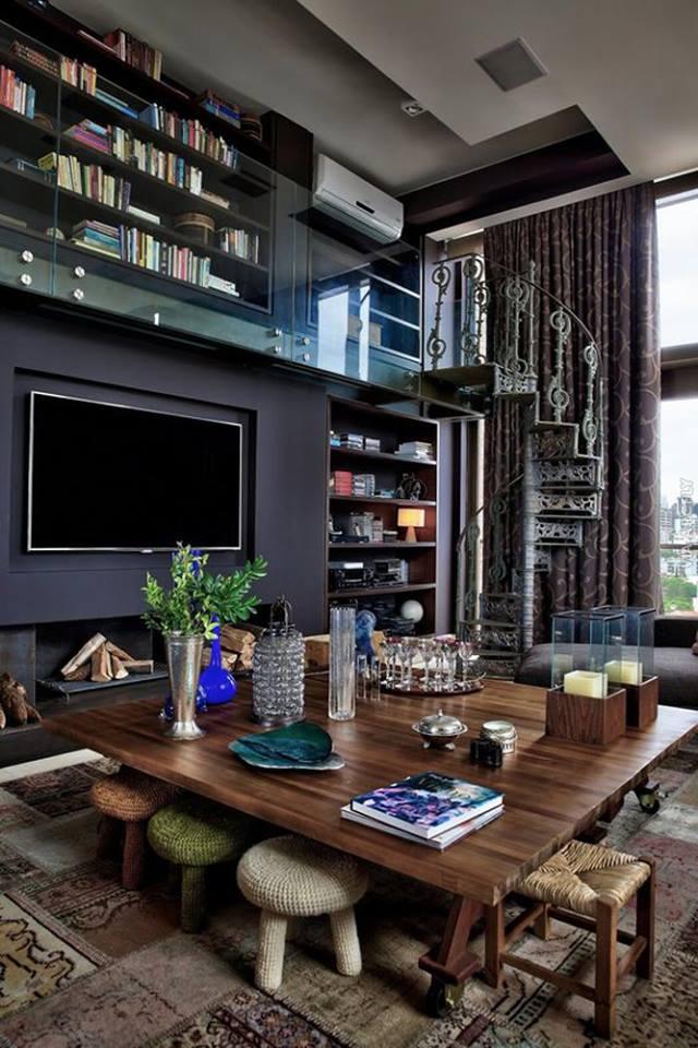nội thất đẹp và sang trọng cho căn hộ tầng áp mái