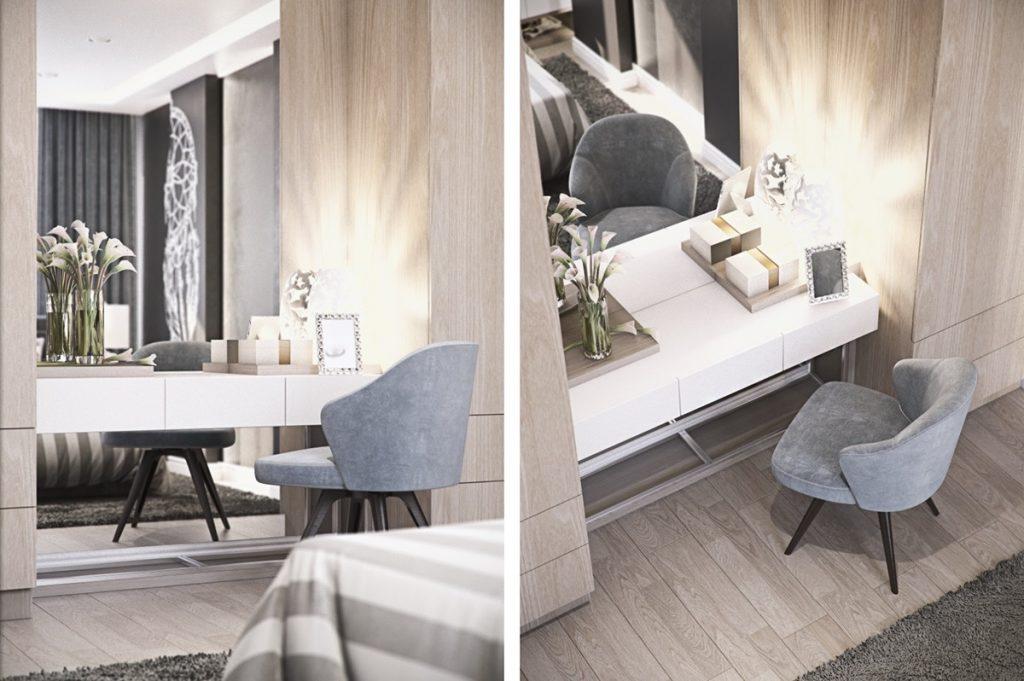 mẫu thiết kế nội thất cao cấp sang trọng cho căn hộ 3 phòng ngủ.