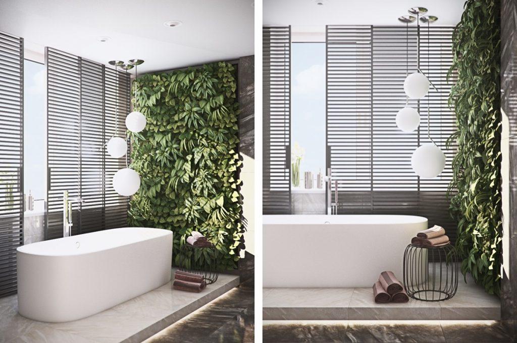 mẫu thiết kế nội thất phòng tắm cao cấp sang trọng cho căn hộ 3 phòng ngủ.