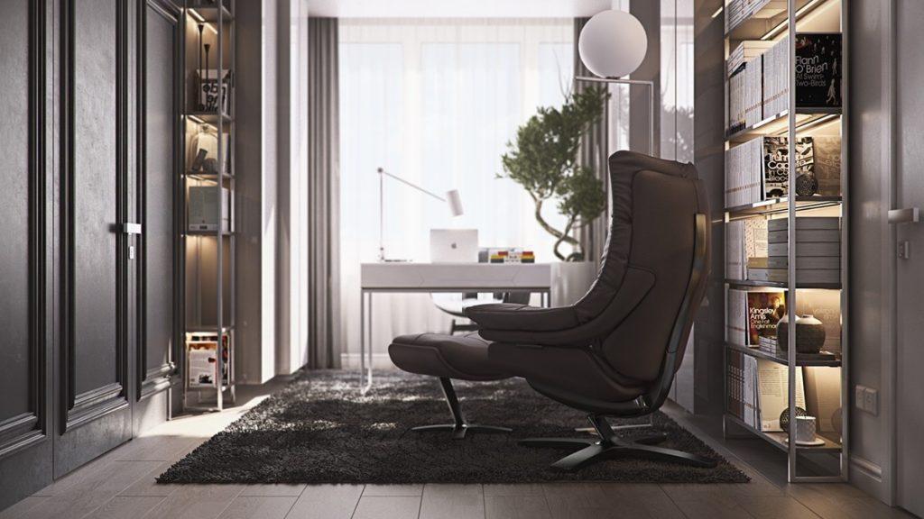 mẫu thiết kế nội thất phòng khách cao cấp sang trọng cho căn hộ 3 phòng ngủ.