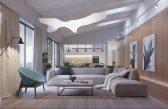 mẫu thiết kế nội thất nhà đẹp theo phong cách công nghiệp.