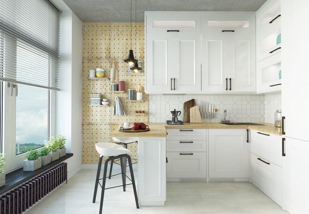 nhà bếp và phòng ăn đẹp phong cách chiết trung.