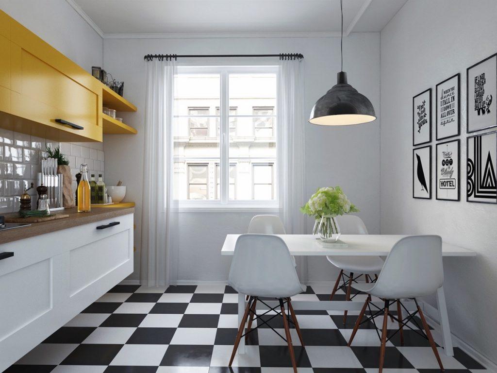 mẫu thiết kế nội thất nhà bếp và phòng ăn đẹp.