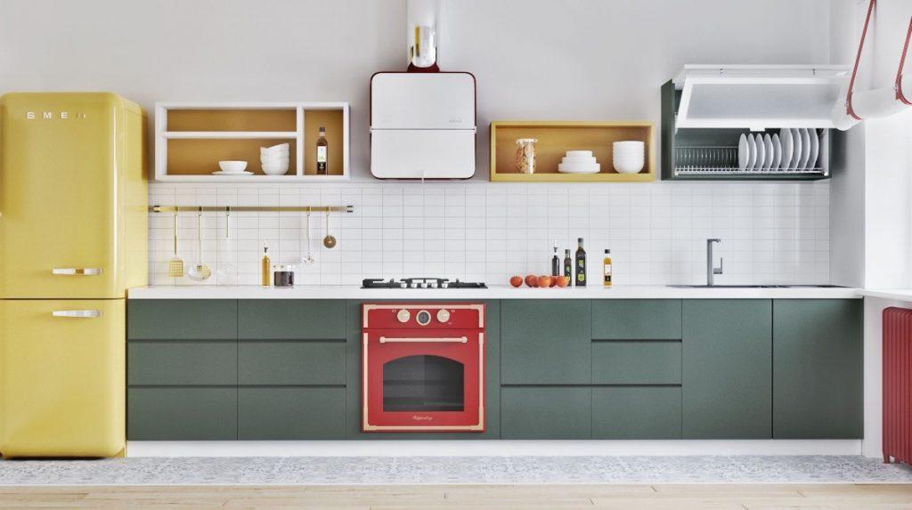 thiết kế nội thất nhà bếp và phòng ăn phong cách bắc âu.