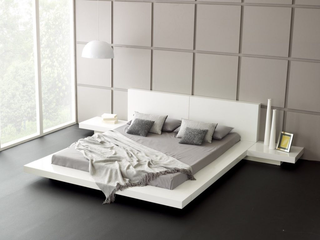 mẫu giường ngủ cao và thấp đẹp độc đáo.