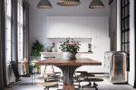 thiết kế nội thất bếp phong cách công nghiệp.