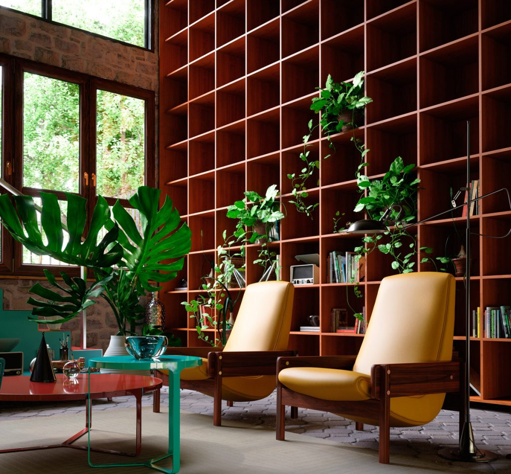 bí quyết thiết kế nội thất tăng chiều cao không gian phòng khách.