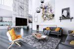 thiết kế giúp tăng chiều cao phòng khách.