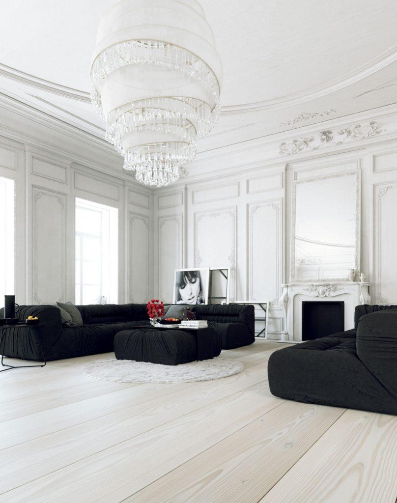 thiết kế nội thất đơn sắc đẳng cấp cho phòng làm việc.