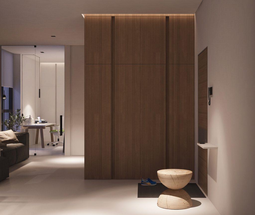 thiết kế nội thất đẹp và tiện nghi cho căn hộ nhỏ dưới 40 m2.
