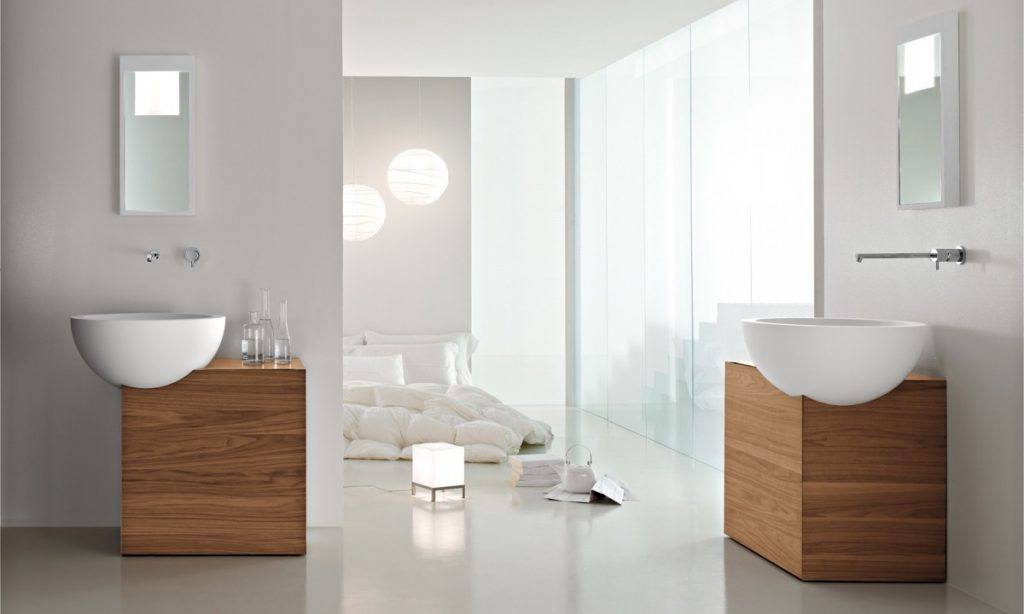 thiết kế và thi công nội thất phòng tắm đep.