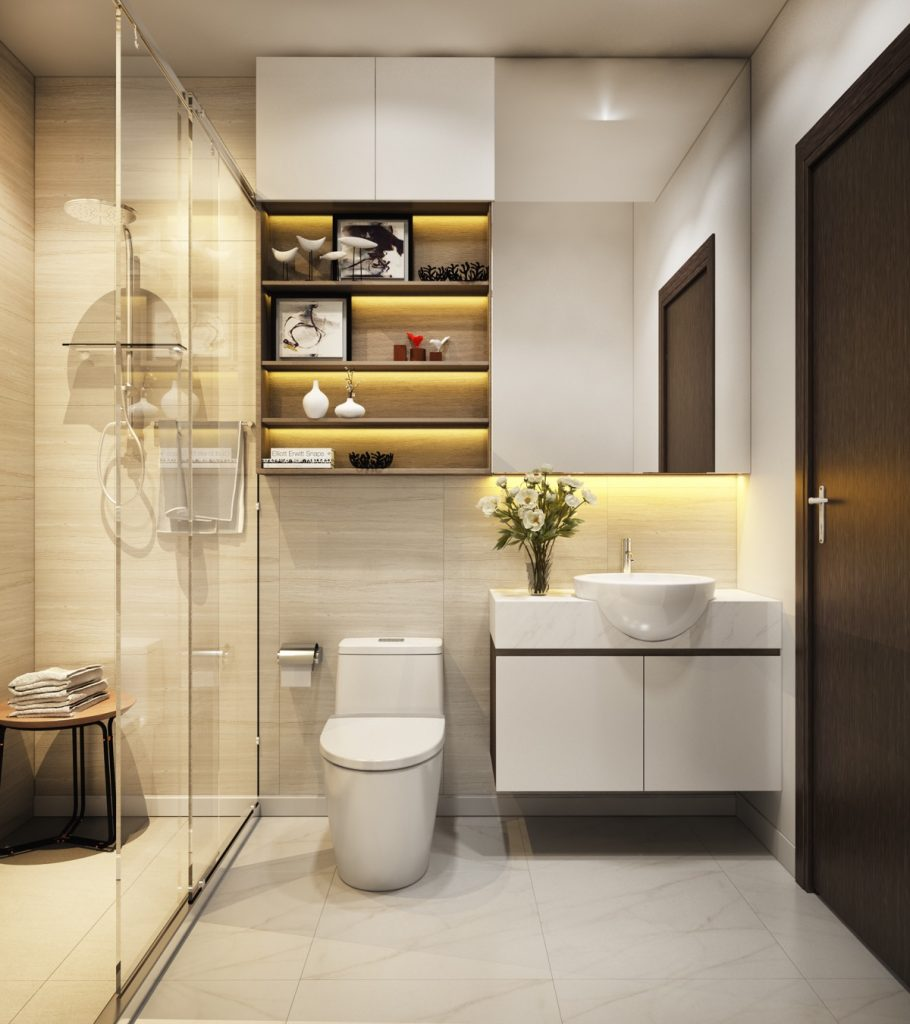 Mẫu thiết kế & thi công nội thất tối giản hiện đại đẹp hút hồn cho phòng tắm (P.