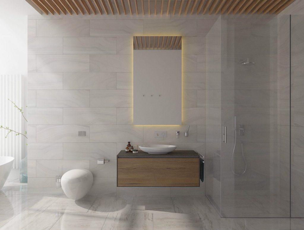 Mẫu thiết kế & thi công nội thất tối giản hiện đại đẹp hút hồn cho phòng tắm.