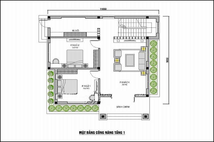 mb-tang-1-nha-vuong-2-tang Thiết kế nhà 2 tầng mái thái