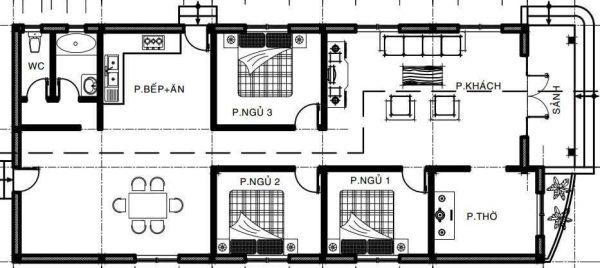 nha-ong-2-tang-3-phong-ngu-1-phong-tho-1 Thiết kê nhà ống 2 tầng 3 phòng ngủ 1 phòng thờ