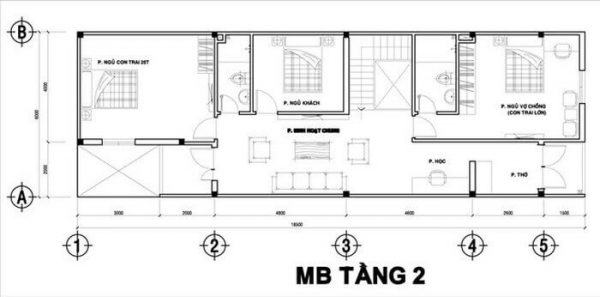 nha-ong-2-tang-3-phong-ngu-1-phong-tho-2 Thiết kê nhà ống 2 tầng 3 phòng ngủ 1 phòng thờ