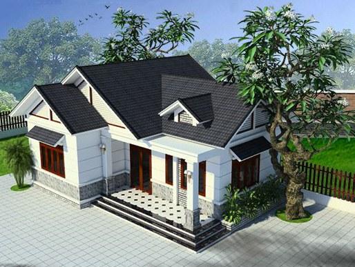 thiet-ke-nha-cap-4-3-phong-ngu-1-tho-100m2 Thiết kế nhà cấp 4 3 phòng ngủ 1 phòng thờ mái thái diện tích 100m2